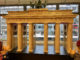 Porte de Brandebourg en briques Lego à Berlin