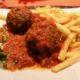 Boulets sauce tomate vegan à L'interrogation à Liège, Fléron