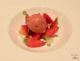 Dessert vegan autour de la fraise au restaurant Bosq à Texel
