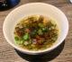 Bouillon de champignons vegan en entrée au restaurant Bosq à Texel