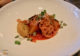 Entrée au restaurant vegan Bosq à Texel : rutabaga, shiitake et kimchi