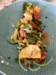 Entrée végétarienne au restaurant Opduin à Texel : Avocat et lentilles
