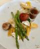 Plat végétarien au restaurant Opduin à Texel : potiron au curry