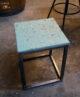 Tabouret ou table d'appoint terrazzo bleu Sophie Rahir
