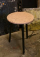 Tabouret ou table d'appoint rose terrazzo Sophie Rahir